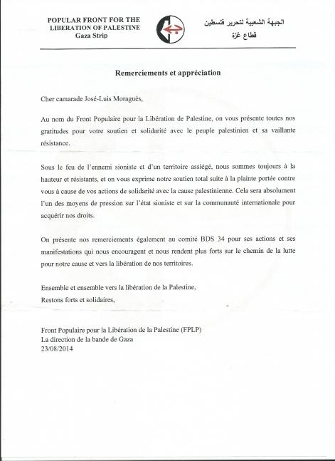 lettre FPLP