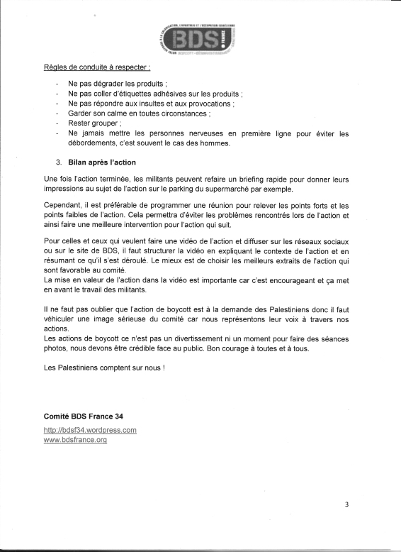 Action de Boycott dans les Qupermarchés (3)