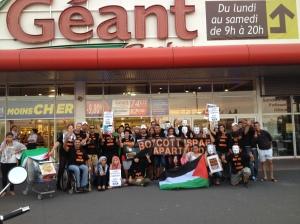6 septembre : action de boycott très réussie au Géant Casino à 45