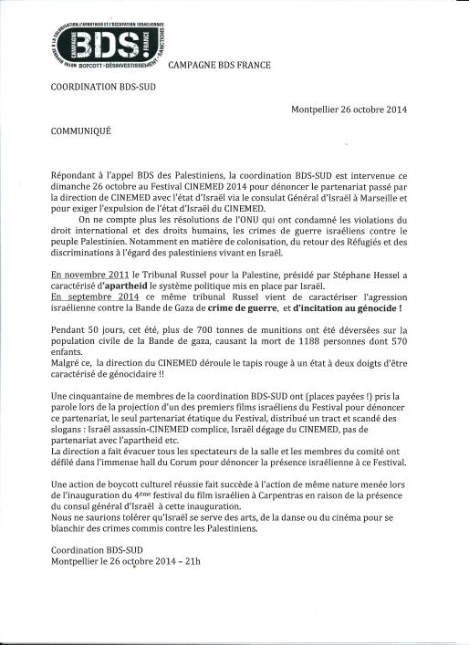 2014 10 26 Communiqué Cinémed