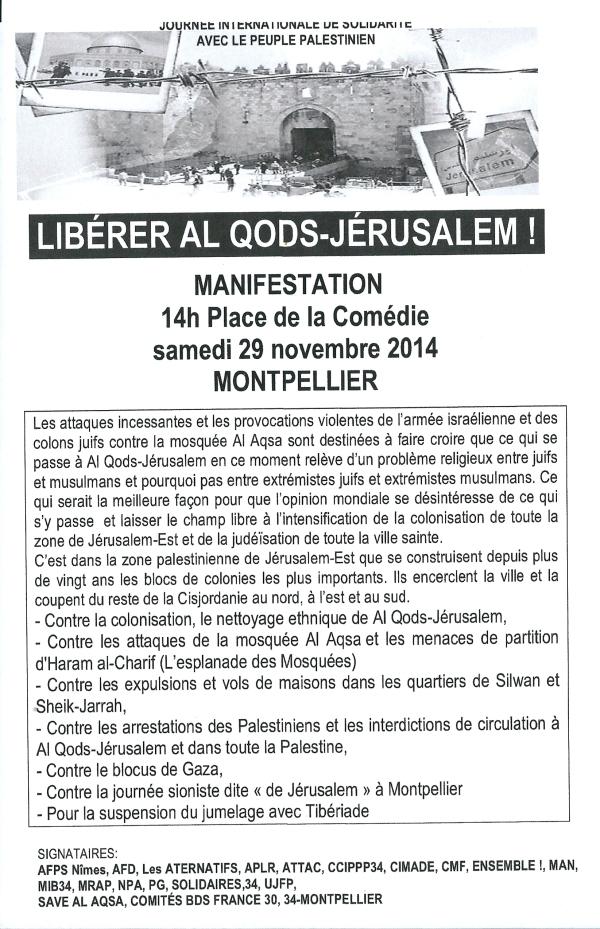 Tract Al Quods 29 11 2014