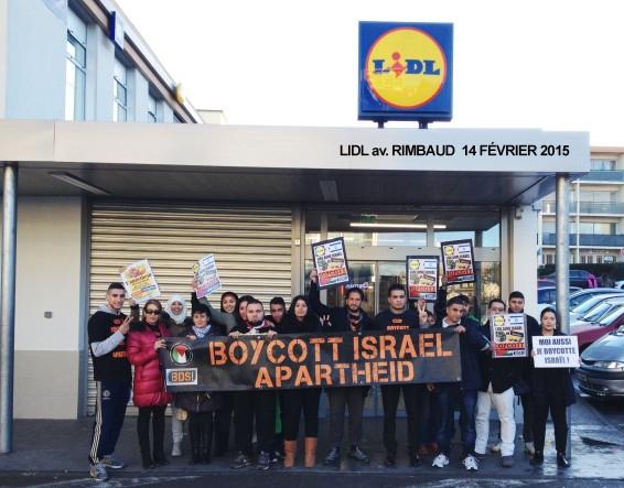 Action BDS contre Mehadrin chez LIDL ce samedi 14 fevrier