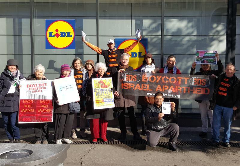266897387449a Action BDS sur LIDL 6 février 2016 à Montpellier