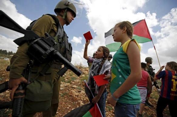 red card for israeli soldier nabi saleh_0