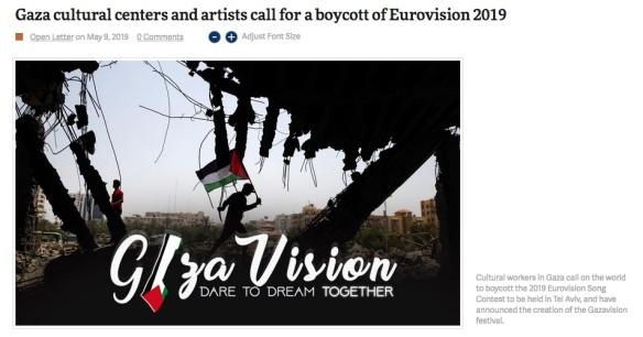 gaza boycotteurovision
