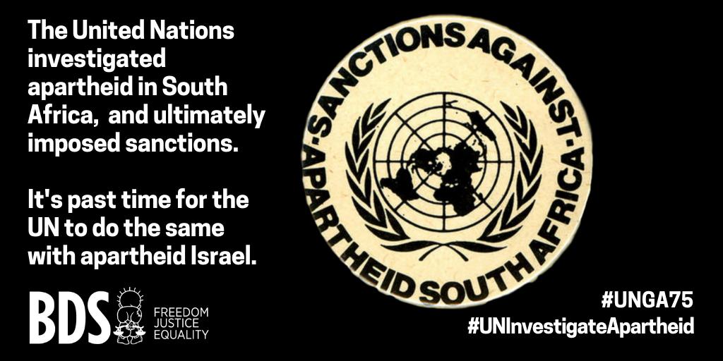 UNGA sanctions against apartheid South Africa 9.23.2020
